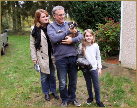 Jolie et sa famille